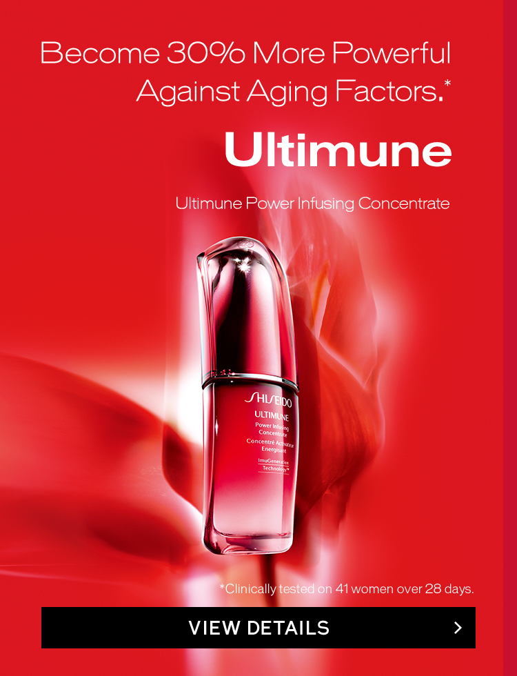 Become 30% More Powerful Against Aging Factors.* Ultimune Ultimune Power Infusing Concentrate VIEW DETAILS *Clinically tested on 41 women over 28 days.